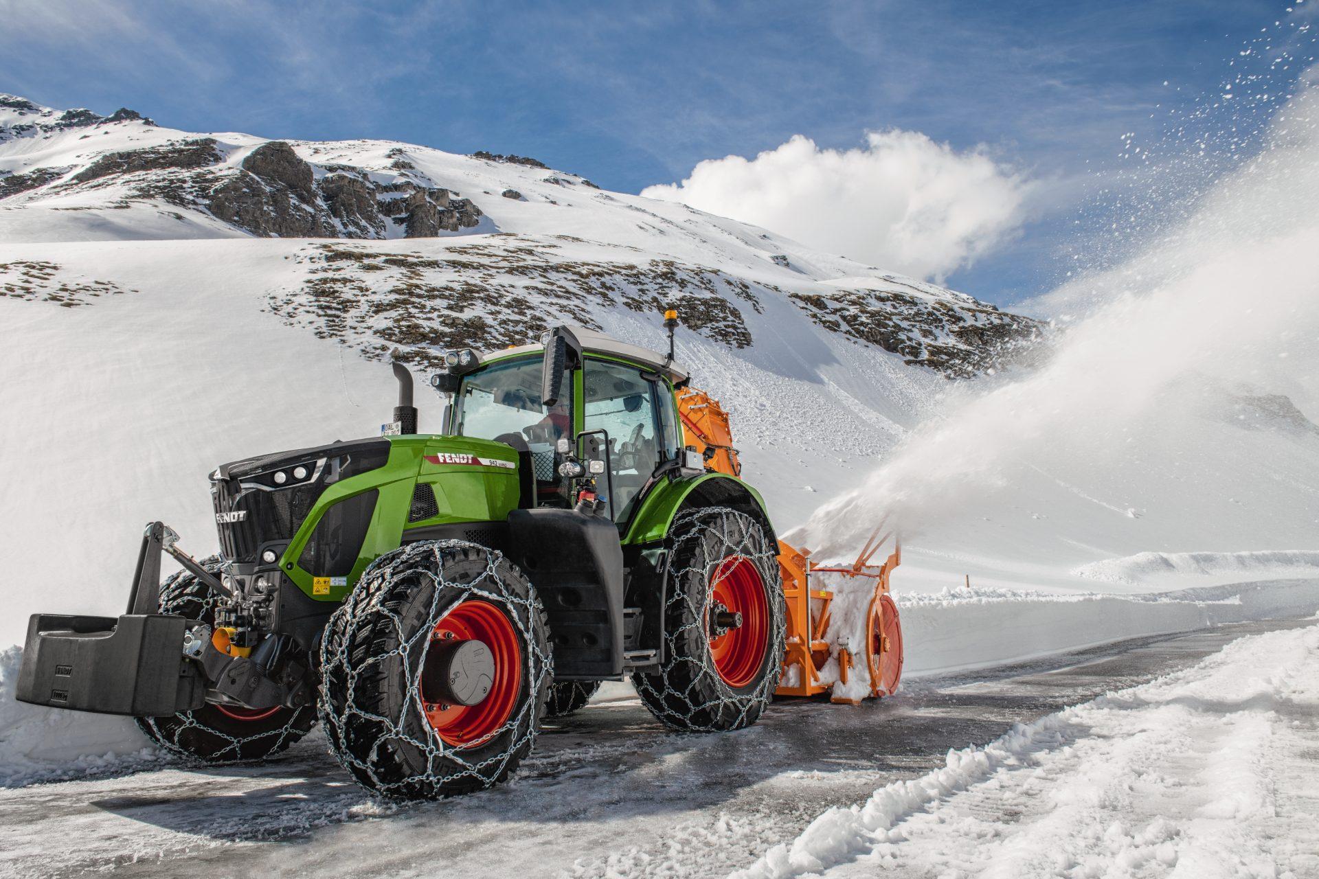 Tractor Fendt 942 Vario Power peisaj de iarna