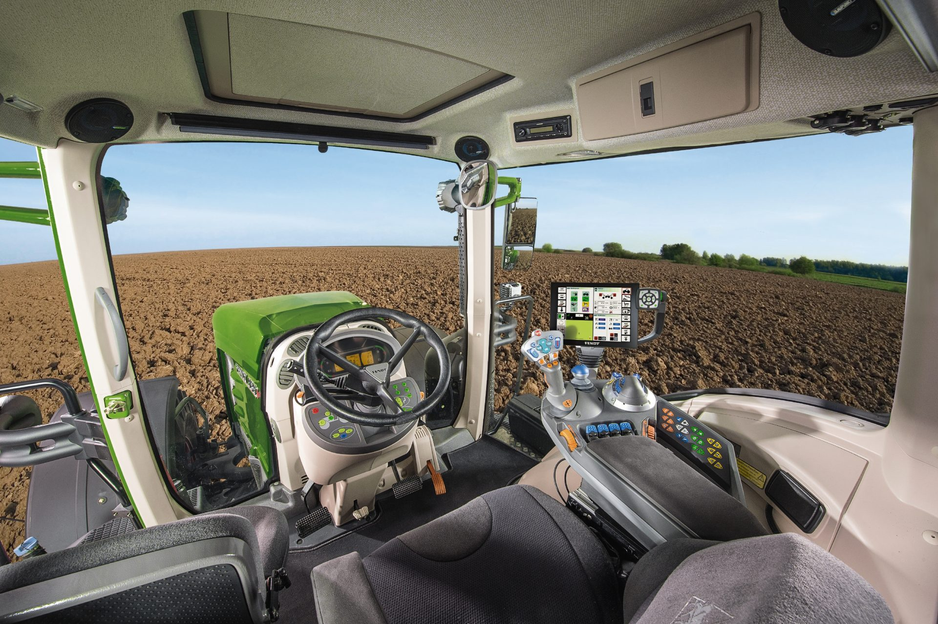 Interior cabina tractor Fendt 930 Vario Power